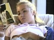 She becomes horny reading Erotic literature
