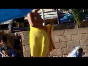 young german teen topless on mallorca beach