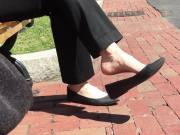 Candid Feet Dangle Shoeplay Flats Outdoor