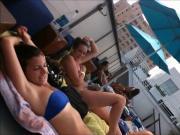 Pool side at Hostel