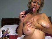 Solo #17 Hot Blonde Granny Toying Around!