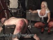 HARSH CANING ! SCREAMING PIG !