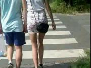 Candid #71 Girl with nice legs in mini skirt