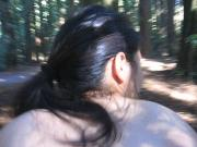 Asian fucks BBC in the woods