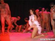 German GangBang party with 5 horny girls