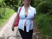 Bj while out walking in the park