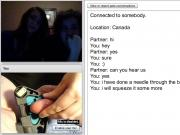 Canadian girls enjoy testicle torture on cam