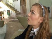 Bossy Teen School Girl Makes The Butler Fuk Her
