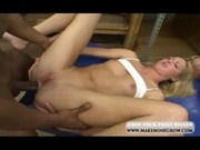 Kymber Troy creampied by two guys