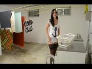 Slutty german girl fucked in the laundry facilities