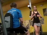 Gym Slut Puts On A Sexy Show