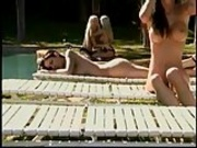 Lesbians Fun by the Pool...F70
