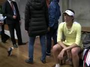 Serena Williams vs Garbine Muguruza dressing room