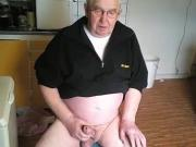 grandpa stroking and play on cam