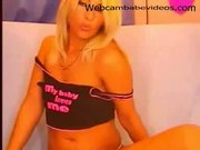 Blonde hottie striptease and fuck with dildo