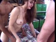 Jake and friend double penetrating a whore