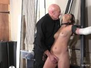 Tied Lexys sexual domination and dungeon humiliation