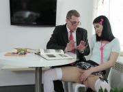 Young girl gets horny with her tutor