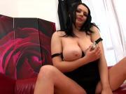 Plump EU Goth Girl Wanks Herself With a Big Fake Cock