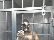 Crazy man in Jail