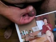 My ejaculation, photograph of Emiko