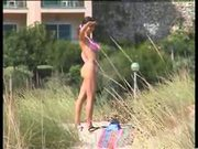 Nude teen on the beach