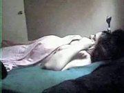 Mom solo. Hidden cam in her bed room
