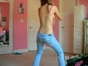 Hot young blonde girl dance