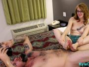 Redheaded Sister Gives Brother a Footjob - Athame & Chaos