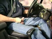Jacking off in car