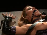 Pleasing Herself On Vibrating Machine