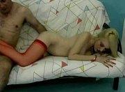 Hot Blonde Cougar Dalny Stocking Sex