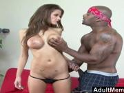 AdultMemberZone - Busty white whore craves massive black dic