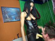 GERMAN BDSM TEEN FUCKS 2 USER IN THE ASS WITH STRAPON