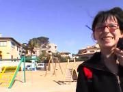 Streetgirl Sophie alleine auf Mallorca