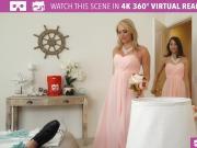 VR BANGERS- Mia Malkova and Riley Reid Bridesmaids fuck