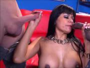 Full Service Latina Maid Gabby Quinteros Pleases 2 Cocks!