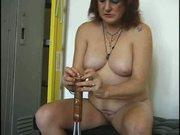 Granny Plays in the Locker Room