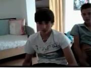 18yo teen boys wank for webcam - another skype show