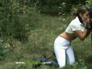Rider Girl Fucked - Jocoboclips.com - Tied & Fucked Outdoors