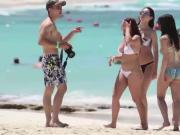 Ariel Winter in white bikini on Bahamas 2016