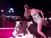 Hot Girls on Mechanical Bulls Vid 1