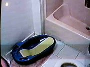 girlfriend on bathroom spycam