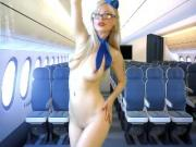 Slutty blonde flight attendant