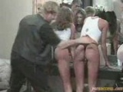 Wet T-shirt Models Spanked