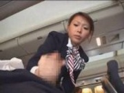 Japanese Stewardess Handjob - Part 1
