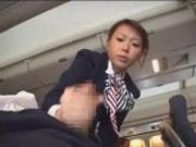 Japanese Stewardess Handjob - Part 1