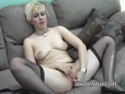 Horny coed Raven is playing with her tight young twat