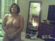 MILF with big bouncing tits masterbating