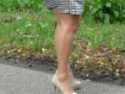 Me flashing again in my new dress hihihihi